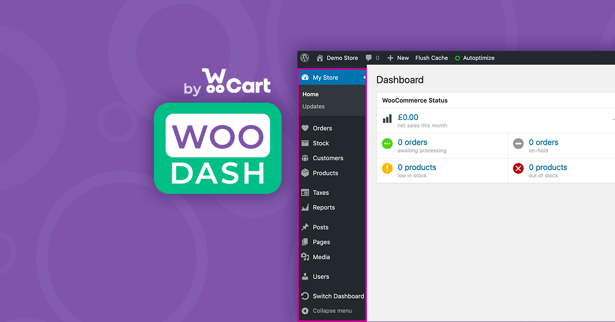 Make your WordPress dashboard store-focused featured image
